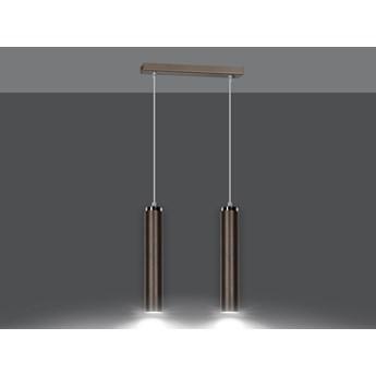 LUNA 2 WENGE designerski spot wiszący tuby brązowe chrom