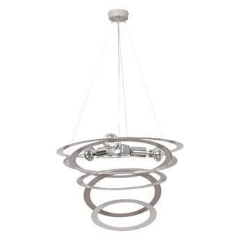 SKIPPER GRAY 690/3 designerska lampa wisząca chromowane elementy szara