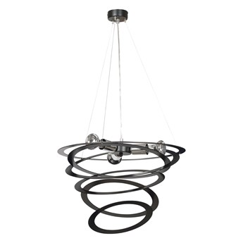 SKIPPER BLACK 690/2 designerska lampa wisząca chromowane elementy czarna