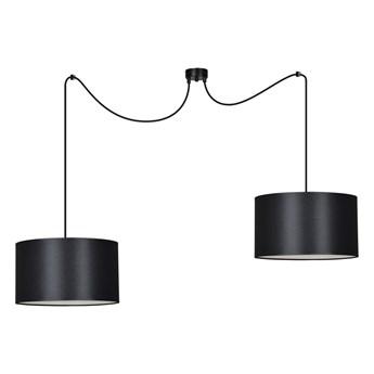 ROTO 2 BLACK 186/2 lampa wisząca czarna z abażurem biały środek