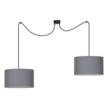 ROTO 2 GRAY 188/2 lampa wisząca sufitowa szary abażur biały środek regulowana wysokość