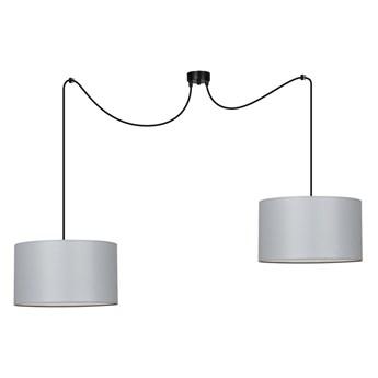 ROTO 2 LIGHT GRAY 189/2 lampa sufitowa wisząca jasnoszare abażury biały środek regulowana