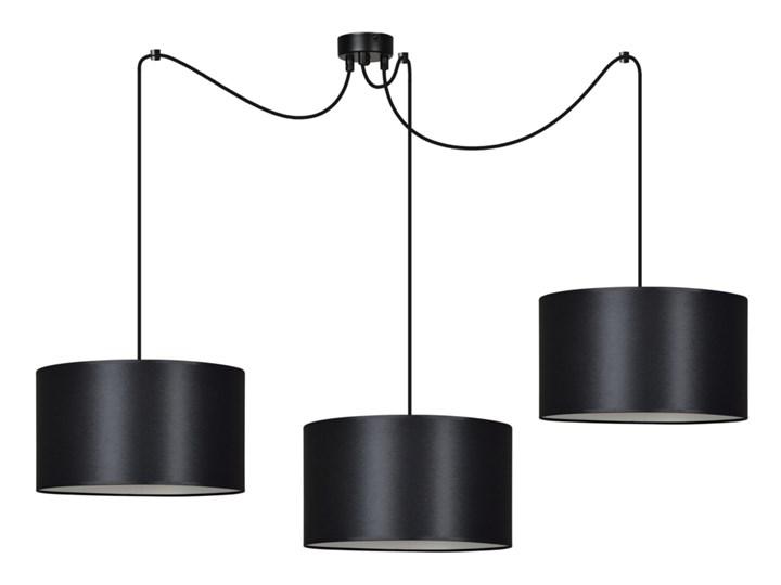 ROTO 3 BLACK 186/3 lampa wisząca czarna z abażurem biały środek
