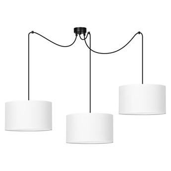 ROTO 3 WHITE 187/3 lampa wisząca regulowana wysokość abażury całe białe