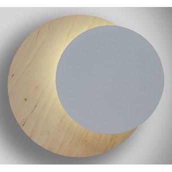 CIRCLE 971/1 WHITE kinkiet ścienny LED biały styl skandynawski drewno metal