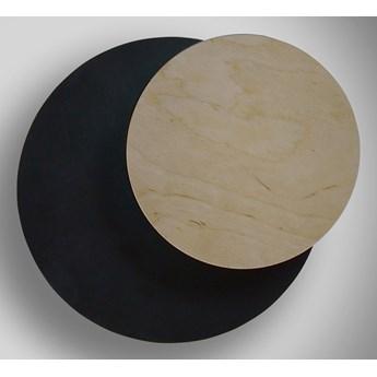 CIRCLE 790 BLACK kinkiet ścienny LED czarny styl skandynawski drewno metal