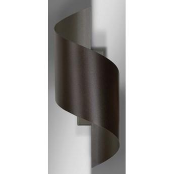 SPINER WENGE 920/6 nowoczesny kinkiet LED zakręcony brązowy różne kolory DESIGN