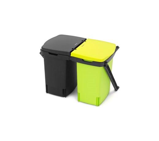 kosz do segregowania odpad w montowany w szafce podw jny 2 x 10 l kosze na mieci zdj cia. Black Bedroom Furniture Sets. Home Design Ideas