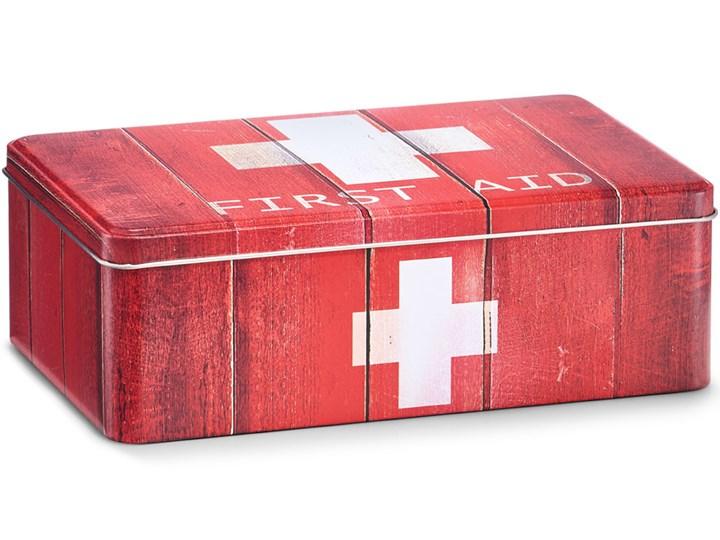 Uniwersalna metalowa apteczka, zamykana na wieczko, kolor czerwony, domowa lub biura, przechowywanie lekarstw, Zeller Metalowe