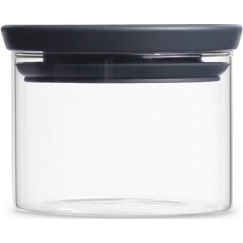 Pojemnik szklany BRABANTIA BR 29-83-01 0.35 L Przezroczysto-grafitowy