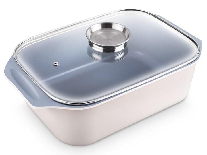Brytfanna LAMART HL0803 Aroma Ceramika Kolor Biały Aluminium Naczynie do zapiekania Naczynie z pokrywką Kategoria Naczynia do zapiekania