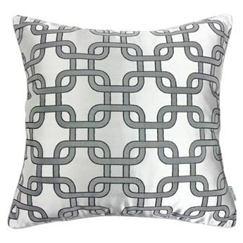 Poduszka w geometryczny wzór Silver  45 x 45 cm
