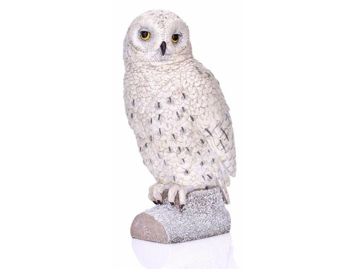 Figurka sowa 15x12x27cm Miloo Home biała kod: ML6343 Ptaki Kolor Biały Drewno Tworzywo sztuczne Kategoria Figury i rzeźby