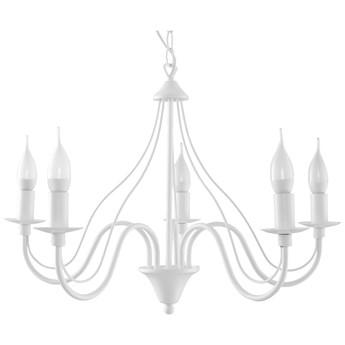 Lampa wisząca Sollux Lighting Minerwa5 biała kod: SL.0214