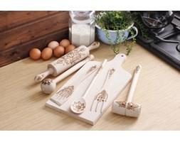 Komplet drewnianych przyborów kuchennych FOLKLOR