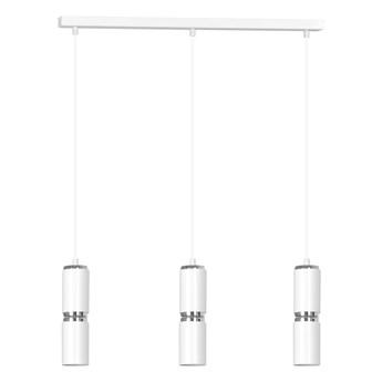 MODESTO 3 WHITE 178/3 nowoczesna lampa wisząca białe tuby chrom dodatki LED