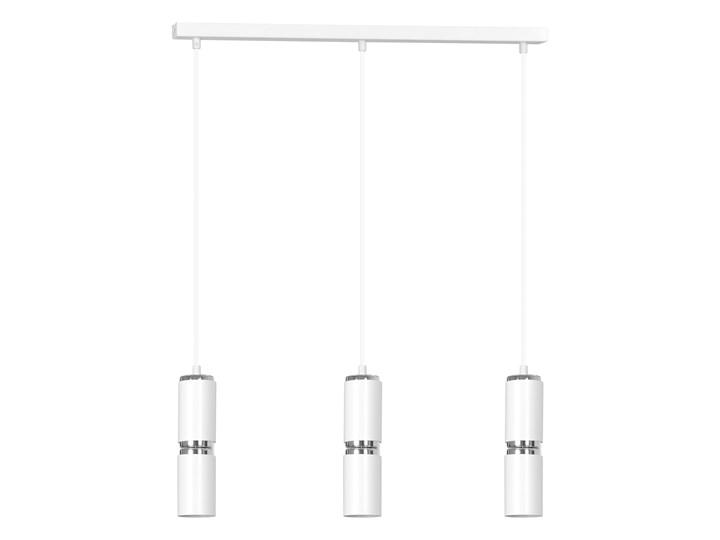 MODESTO 3 WHITE 1783 nowoczesna lampa wisząca białe tuby chrom dodatki LED