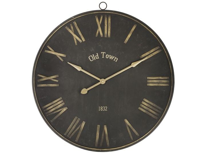 Duży Zegar Na ścianę Okrągły Zegar Zegar Do Salonu Czarny