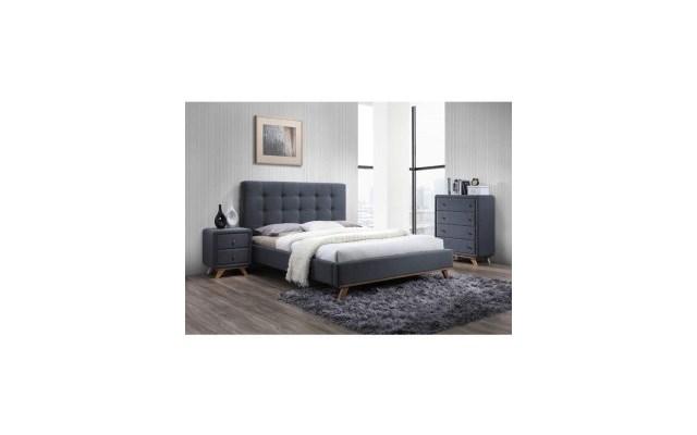 łóżko Tapicerowane Melissa 160x200 Kolor Szaryłóżka
