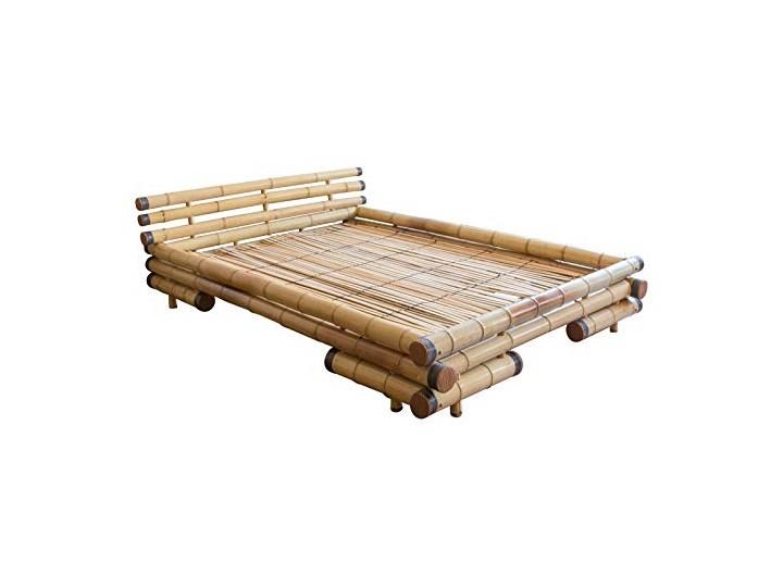 Homestyle4u Rama łóżka łóżko Bambusowe łóżko Bambusowe łóżko 160 X 200 Cm W Kolorze Naturalnym Podwójne łóżko Typu Futon W Zestawie Stelaż łóżka