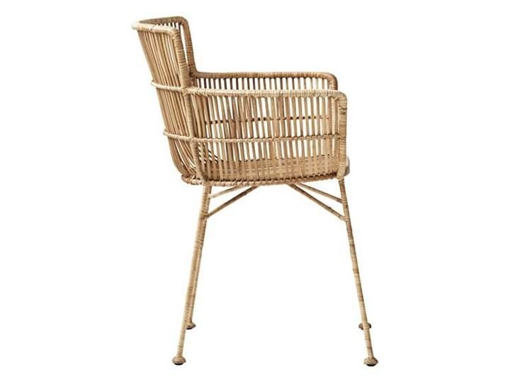 KRZESŁO DINING CUUN NATURE HOUSE DOCTOR Szerokość 62 cm Rattan Metal Krzesło inspirowane Głębokość 60 cm Wysokość 80 cm Żelazo Pomieszczenie Jadalnia