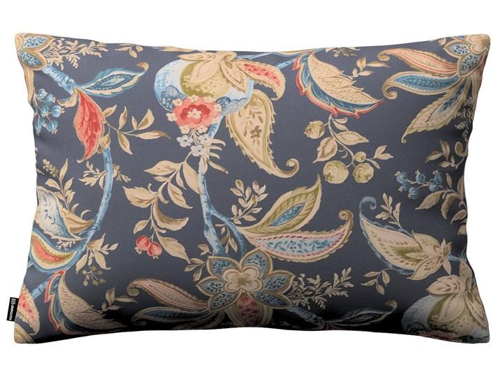 Dekoria Poszewka Kinga na poduszkę prostokątną, roślinne wzory na granatowym tle, 60 × 40 cm, Gardenia