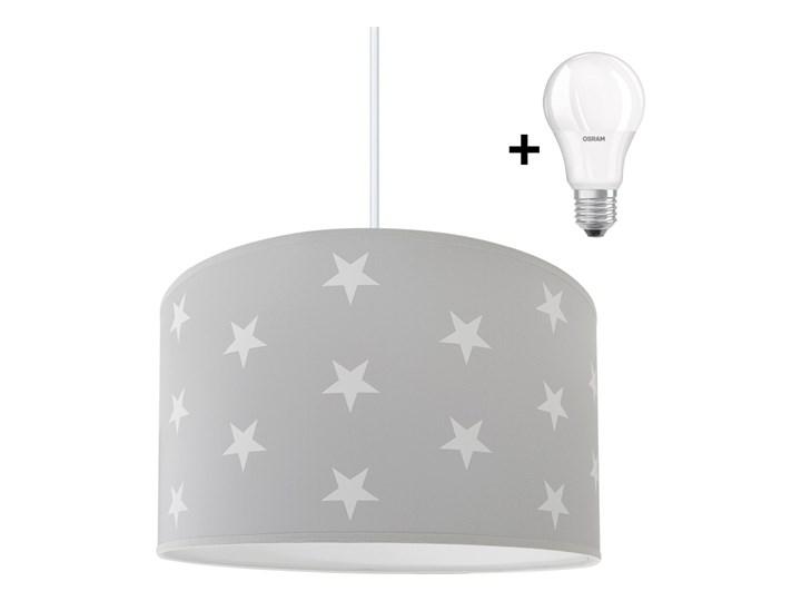 LED Żyrandol dziecięcy STARS GREY 1xE27/9W/230V