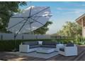 Meble ogrodowe MILANO II royal białe Zestawy modułowe Technorattan Tworzywo sztuczne Aluminium Styl Nowoczesny Drewno Rattan Zawartość zestawu Stolik
