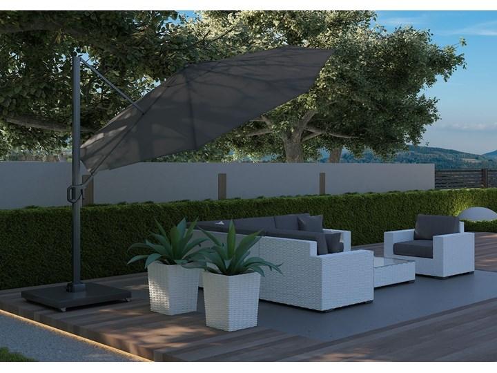 Meble ogrodowe MILANO II royal białe Rattan Drewno Tworzywo sztuczne Technorattan Zestawy modułowe Aluminium Zawartość zestawu Puf