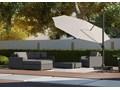 Meble ogrodowe MILANO I royal szare Aluminium Zestawy modułowe Drewno Technorattan Styl Nowoczesny Tworzywo sztuczne Rattan Zawartość zestawu Puf