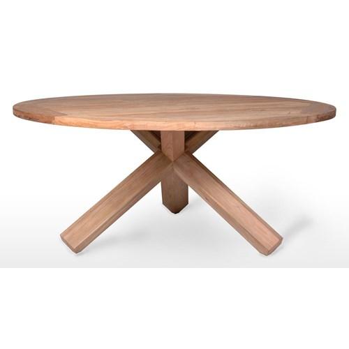 Stół ogrodowy teak BORDEAUX ⌀170cm
