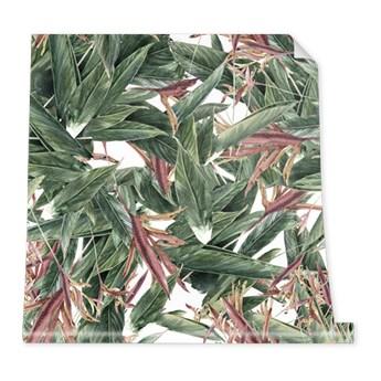 Tapeta Pattern z liści i kwiatów