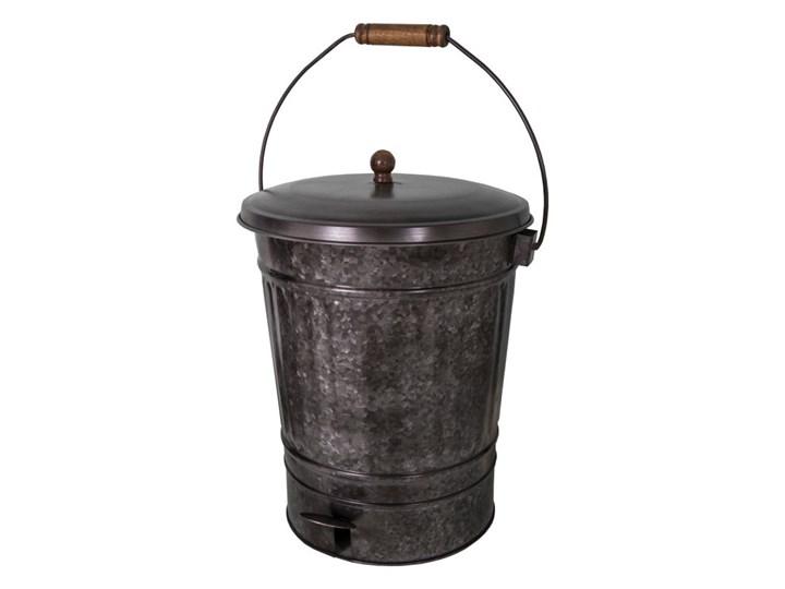 Czarny Metalowy Kosz Na śmieci Antic Line Kosze Na śmieci