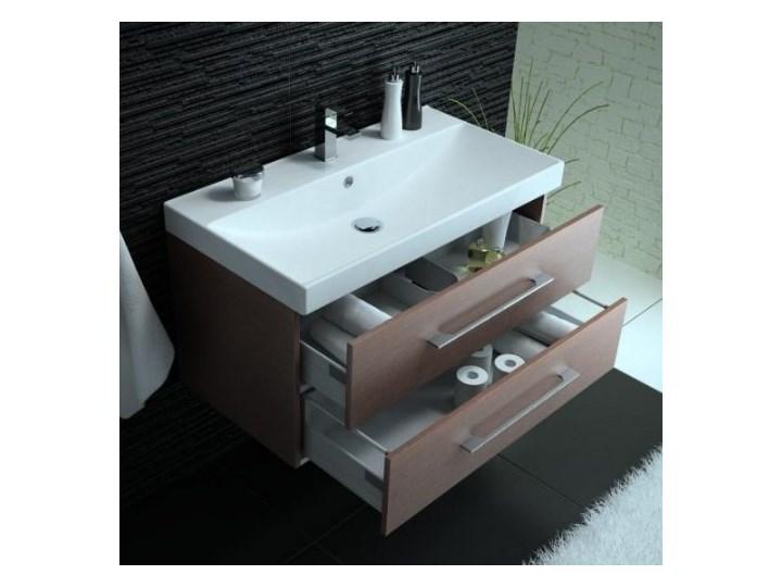 Szafka łazienkowa Z Umywalką 90 Cm Top Wenge Szafki Z Umywalkami