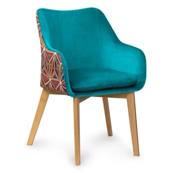 Krzesło HANN Turkus/ Malavi / buk ,dąb