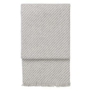 Pled wełniany Elvang Diagonal Light Grey