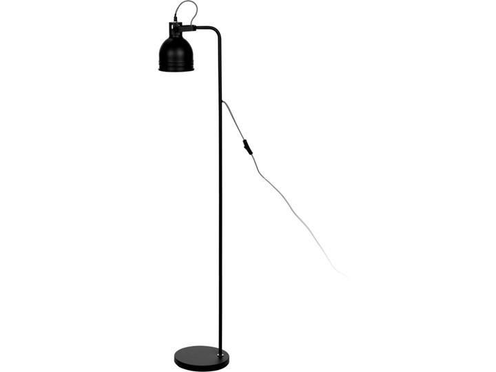 Metalowa lampa podłogowa, stojąca - wys. 136 cm kolor czarny Lampa z regulacją wysokości