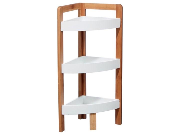 Narożna półka łazienkowa, bambusowa - 3 poziomy Narożne Drewno