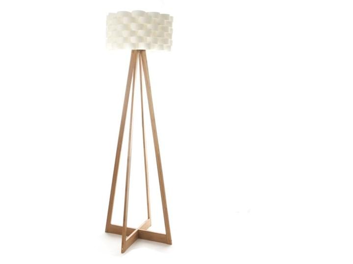 Lampa podłogowa bambusowa - kolor biały, wys. 150 cm Materiał(Poprawny) Drewno