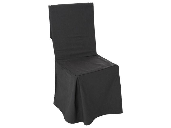 Bawełniany pokrowiec na krzesło, narzuta na fotel, okazjonalny, czarny kolor
