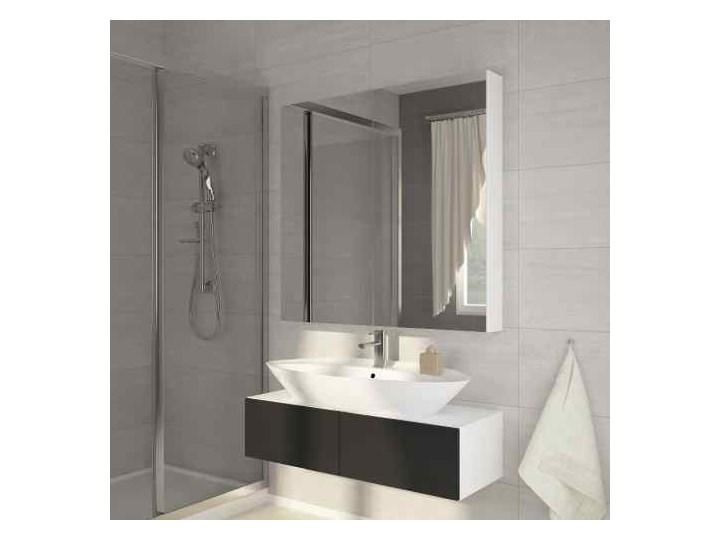 Szafka łazienkowa Della 80 z lustrem biała