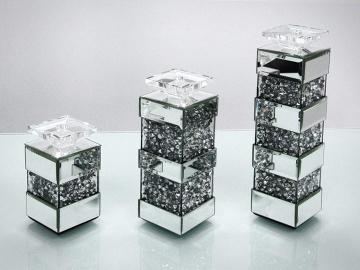 Świecznik Cristall Pas Zestaw x 3 Metal Kategoria Świeczniki i świece Kolor Srebrny