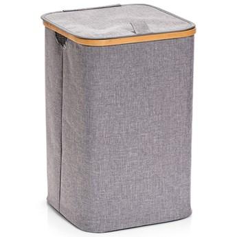 Kosz na pranie z płótna, duży pojemnik z tkanin, szare pudełko na ubrania.
