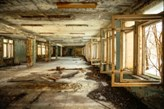 Fototapeta F3658 - Opuszczony Korytarz w Czarnobylu