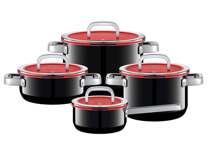 WMF Fusiontec Functional zestaw garnków 4 części, czarny, bez niklu