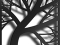 Obraz Torgunn Czarny 150x50 cm Wymiary 50x150 cm Wzór Natura