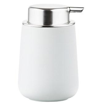Dozownik do mydła Zone Nova Zone Denmark, aksamitny biały mat