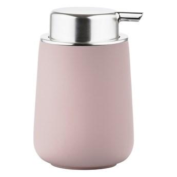 Dozownik do mydła Zone Nova Zone Denmark, różowy mat + srebrny