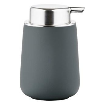 Dozownik do mydła Zone Nova Zone Denmark, ciemnoszary mat + srebrny