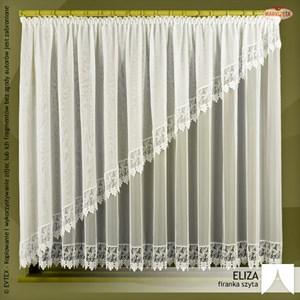 Firanka szyta na wymiar ELIZA / kolor kremowy